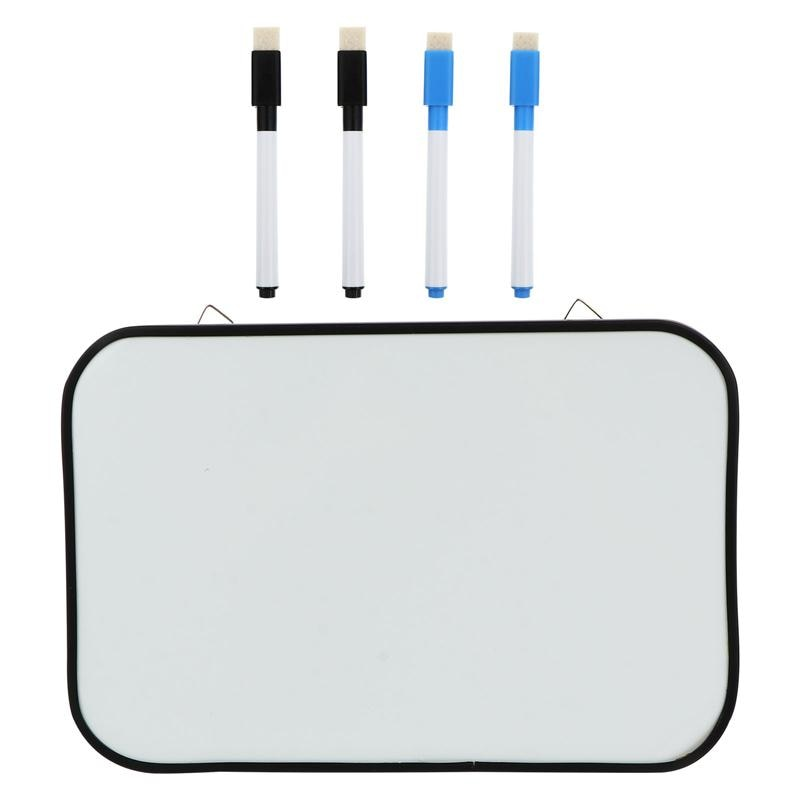 1pc Kids Magnetic Dry Erase White Board Double-sided Whiteboard with 4pcs Pens