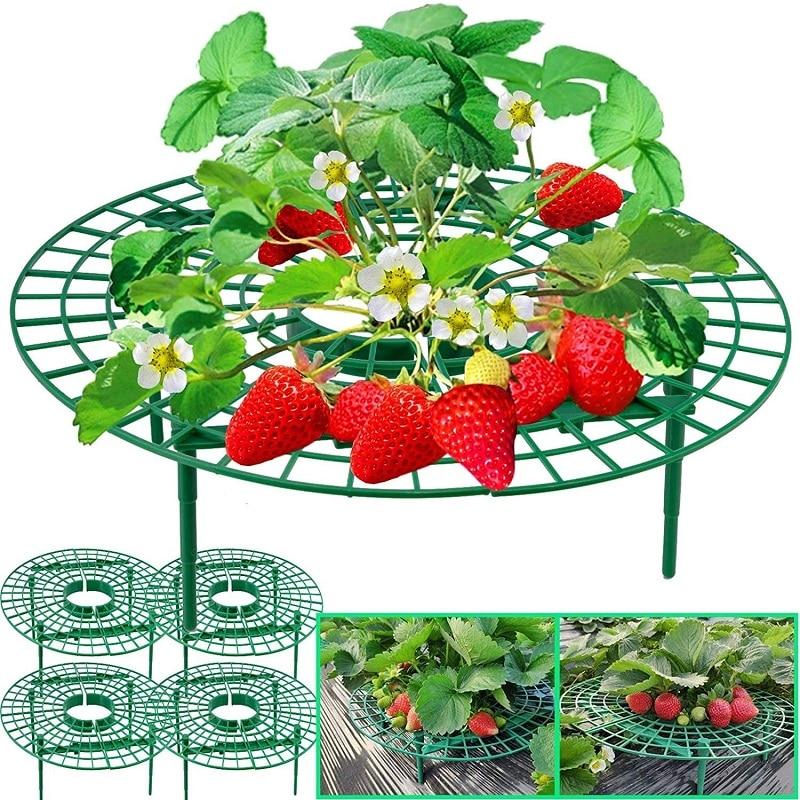 5/10/20 PCS Strawberry Stand Frame Holder Fruit Support Plant Balcony Planting Rack Flower Climbing Vine Pillar Gardening Stand недорого