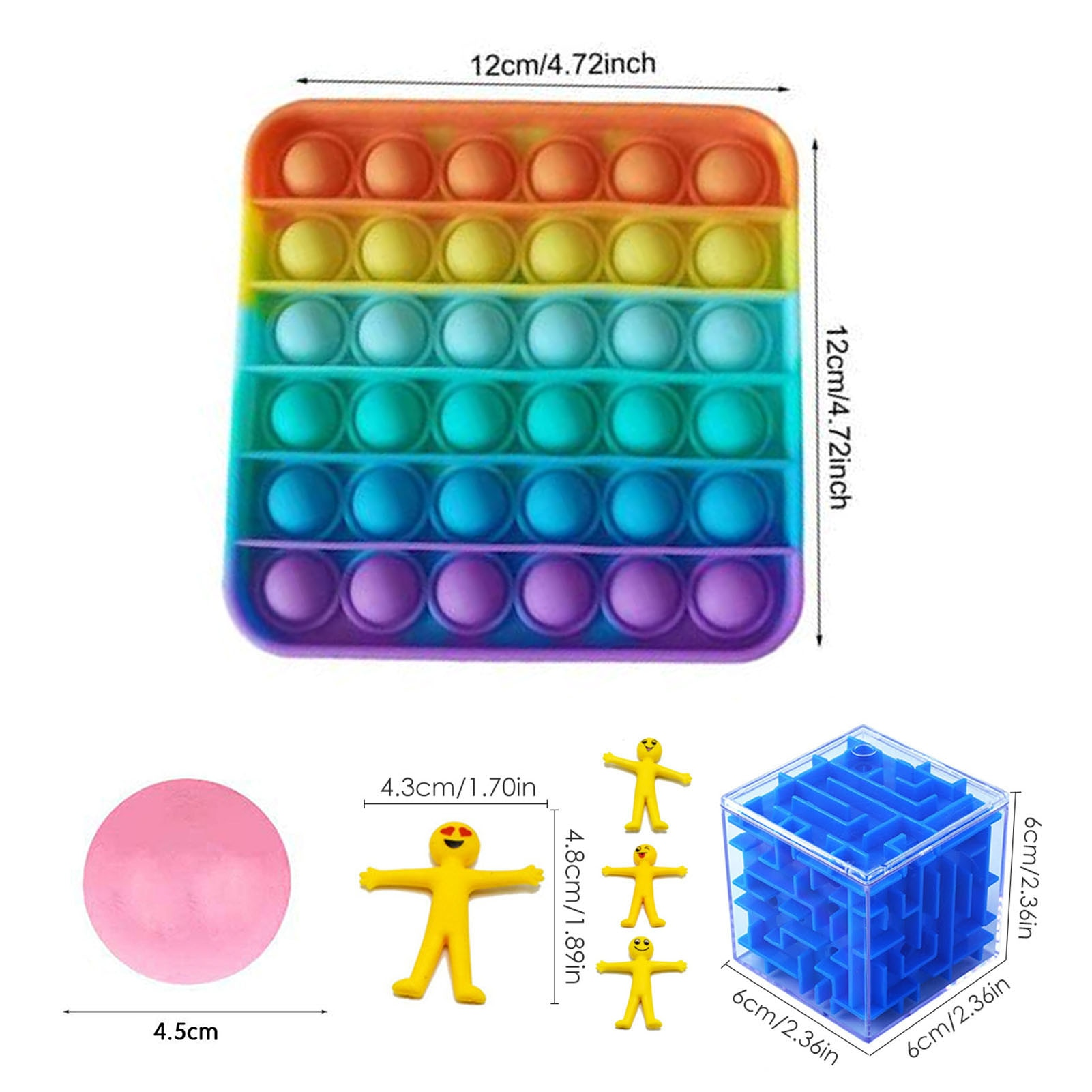 New Fidget Sensory Toy Set Stress Relief Toys Autism Anxiety Relief Stress Pop Bubble Funny Toy For Kids Adults enlarge