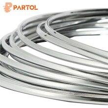 Partol 6 Mm 3Meter Auto Styling Chrome Mouldings Strip Bumper Decoratieve Strips Lijm Grille Impact Autodeur Bescherming Trim