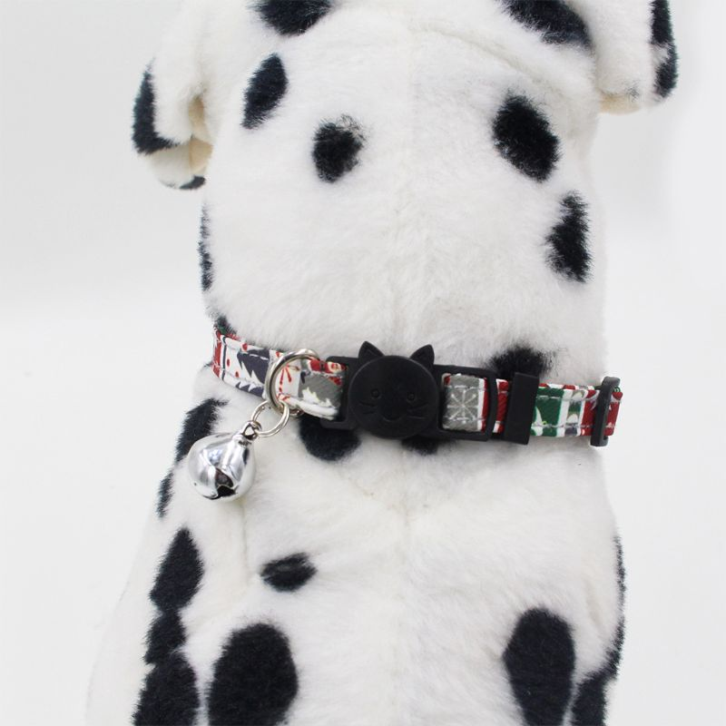 Ajustable Navidad perro mascota cuello tartán Plaid lazo navideño Linda decoración 634E
