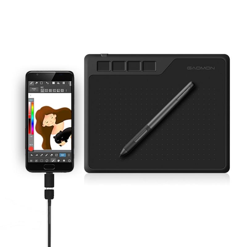 GAOMON-جهاز لوحي للرسومات مع قلم, 6.5 × 4 بوصة 8192 مستوى حساسية للضغط جهاز لوحي للرسومات مع قلم بدون بطارية للرسم واللعب OSU يدعم أندرويد وويندوز وماك