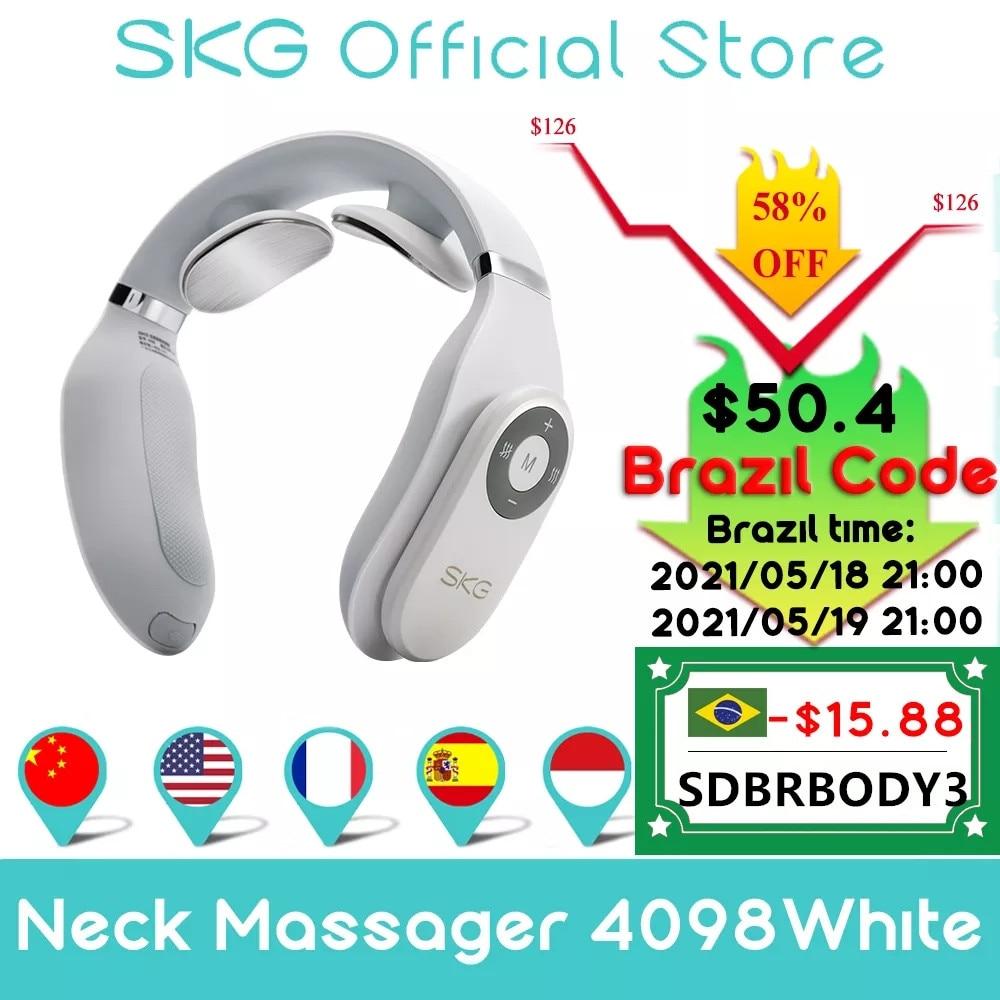 aliexpress.com - SKG Massager For neck Remote Control Hot Compress TENS Electric Pulse Smart Neck Massager Cervical Pain Relief Long Battery Life