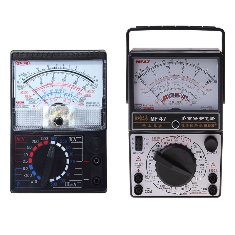 Mechanical Pointer Type Multimeter Measurement AC DC Ohmmeter MF47/JO411 Tester
