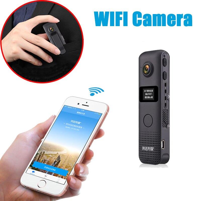 JOZUZE C18 Wireless Mini Camera Wifi Small Video Camcorder Portable Micro Camera Body Cam Loop Recording Cam Motion Detection