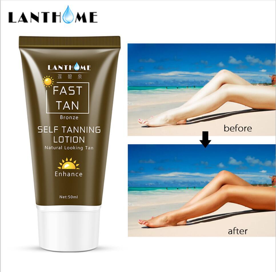 50G Hot Self Tanner Mitt for Bronzer Face Body Solarium Cream for Day Tanning Sun Block Makeup Foundation Tanner Lotion недорого