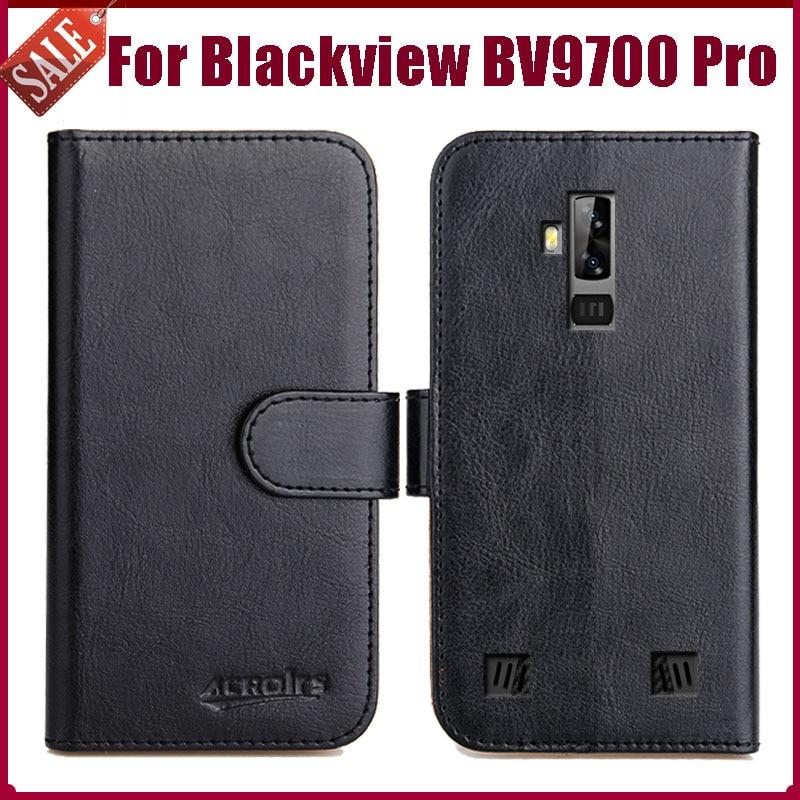 """Hot! Blackview bv9700 pro caso 5.84 """"6 cores flip couro macio telefone carteira capa especial saco de negócios cartão slots"""