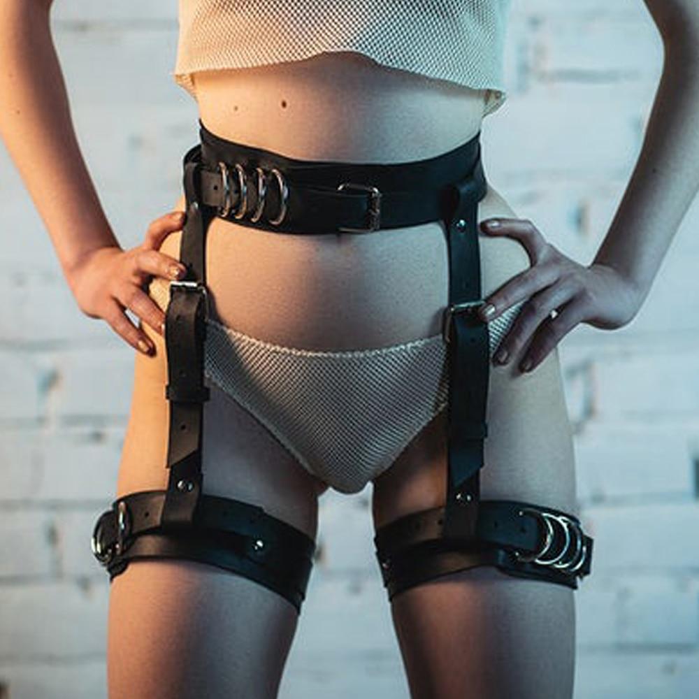 TRODEAM Sexy Harness Garter Body Strap Belt Stockings Gothic Sword Belts Women's Lingerie Sex Costumes Bdsm Bondage Suspender