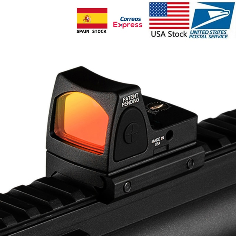 В наличии в США, коллиматор красных точек для прицельной винтовки, прицел для страйкбола, охотничьего ружья