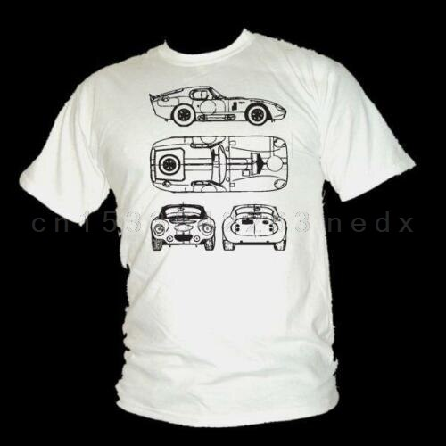 Ac Cobra Daytona esquema estilo Le Mans leyenda camiseta tamaño Unisex S-3XL