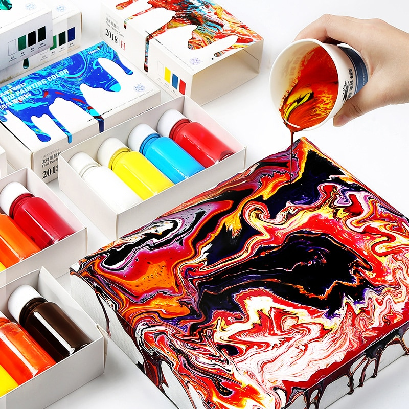 Flow color acrylic paint 75ml stone painting cobblestone painting paint set for art painting supplies