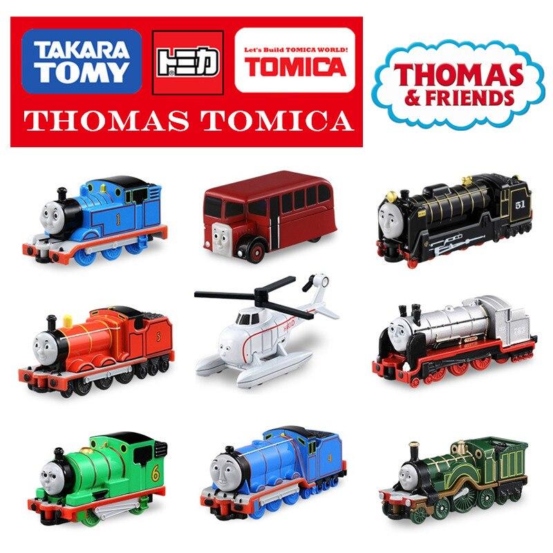 Takara tomy tomica, thomasand, su serie de amigos, minitren coleccionable, juguetes de metal fundido a presión gordon, edward, adornos para niños
