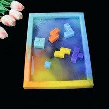 DIY Kristall Epoxy Form Spiel Konsole Tetris Form Spiegel Handgemachte Kreative Schmuck