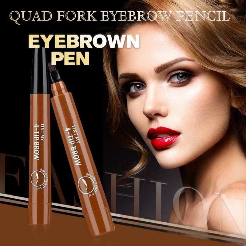 4 Points Eyebrown Pen Waterproof Fork Tip Long Last Sweat-proof Eyebrow Pen Pencil HJL2019