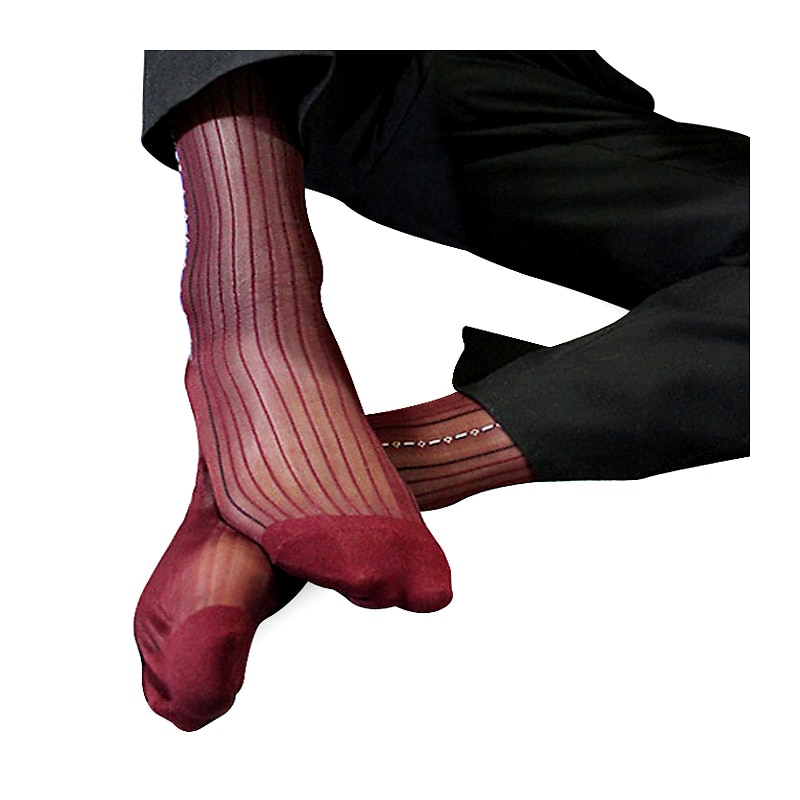 Mens Classical Sheer Silk Socks Formal Business For Men Sexy Design New Arrivel Free Shipping