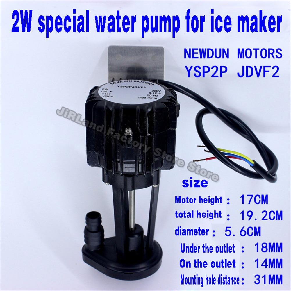 2 واط جهاز تكوين الثلج التجاري جهاز تكوين الثلج مضخة جهاز تكوين الثلج اكسسوارات العالمي مضخة المياه ل جهاز تكوين الثلج مضخة مياه