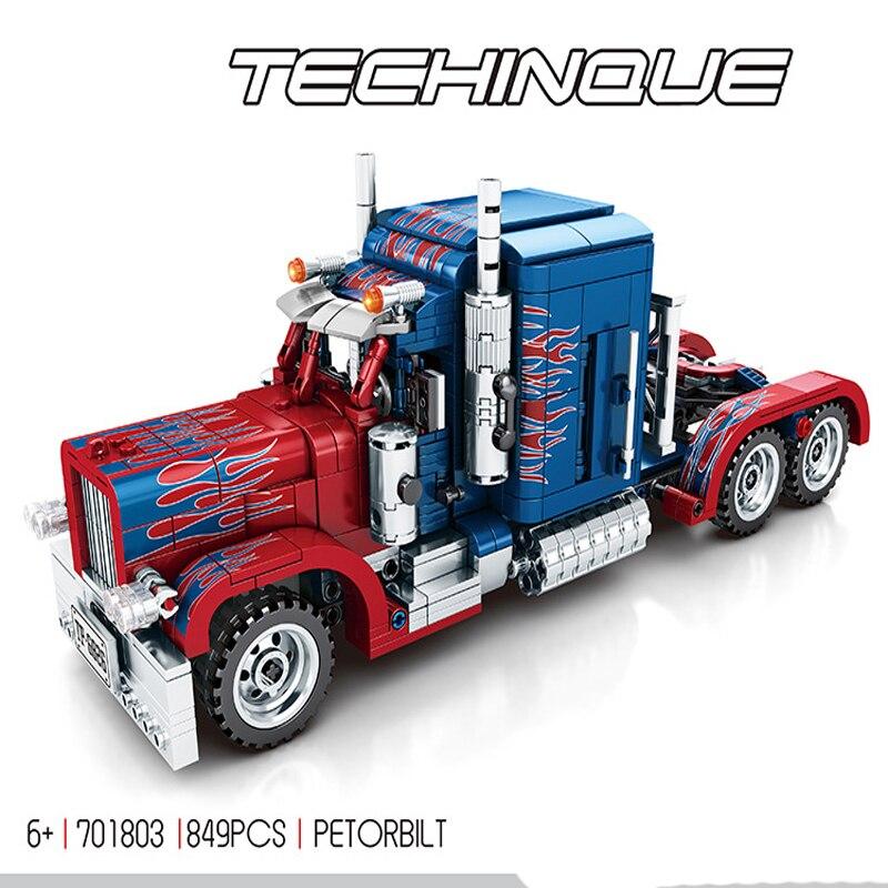 Legoing, Serie Técnica Creator, coche extraíble Compatible con película transformable, modelo de camión Optimus Prime, bloques de construcción, juguete para niños