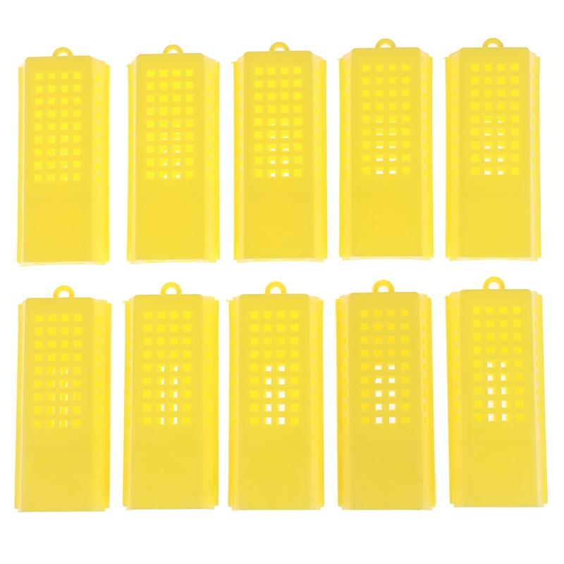 10 Pcs/lot Professional Queen Bee Cage Catcher Plastic Beekeeping Travelling Butler 7.9cm x 3.6cm x 1.4cm