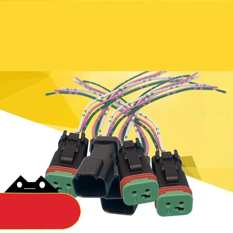 For CATERPILLAR CAT E320B/C/D large and small square pressure switch Plug Hydraulic pump Solenoid valve plug Excavator Accessory