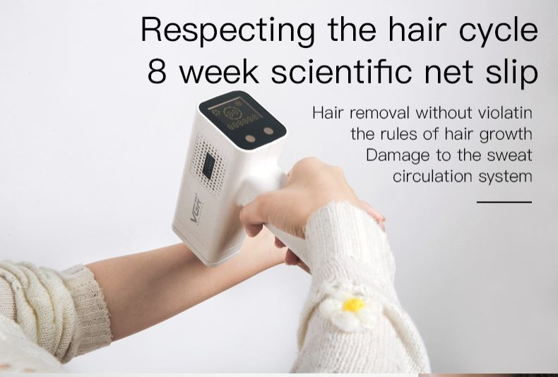 VGR Laser Epilator Hair Removal Device Freezing Point Skin Rejuvenation Home Whole Body Beauty Salon Photon Epilator enlarge
