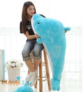 Большой гаджет 1,4 м 55 дюймов. Милый плюшевый дельфин, огромная Мягкая кукла-животное, мягкие игрушки, Подарочные игрушки для детей, милый плю...