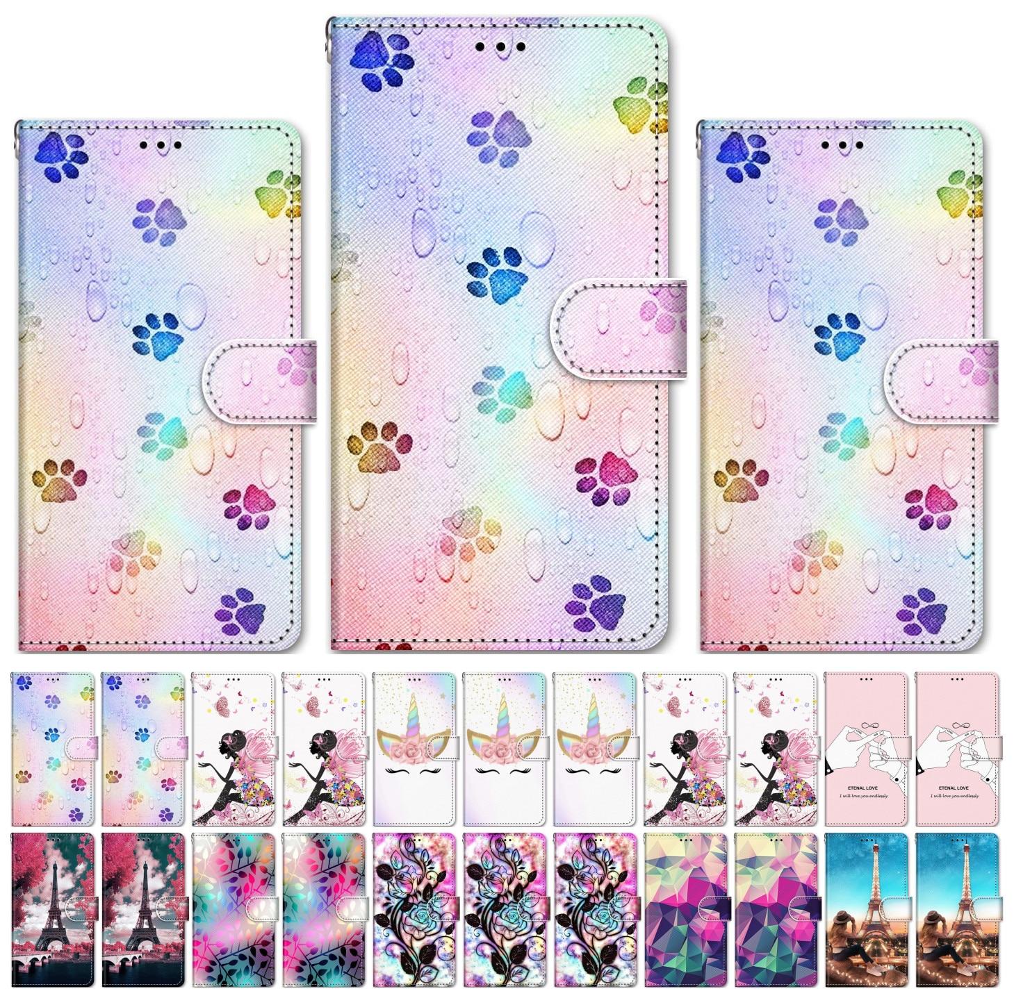 Moda wzór etui na telefony z klapką dla Samsung Galaxy M10 M20 M30 M30S A40S J2 rdzeń Pro Prime J310 J330 J8 2018 G532F G530 pudełko P08F