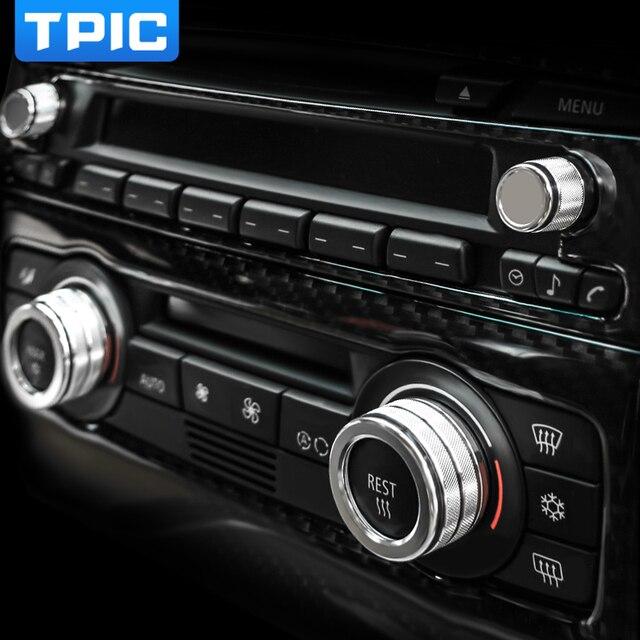 Car Air Conditioning Sound Knob Cover Interior Decoration Car-Styling For BMW 3 Series E90 E91 E92 E93 2005-2012 Accessories