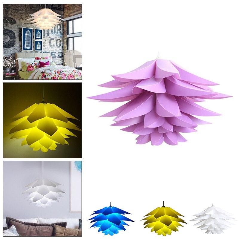 Lirio decoración flores lámpara colgante luces Material PVC diámetro 50Cm Lotus DIY dormitorio salón tiendas LED accesorio de luz