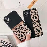 ranipobo leopard print phone case for iphone 12 11 x xr xs max soft back cover shockproof fashion cover for iphone 12 7 8 7plus
