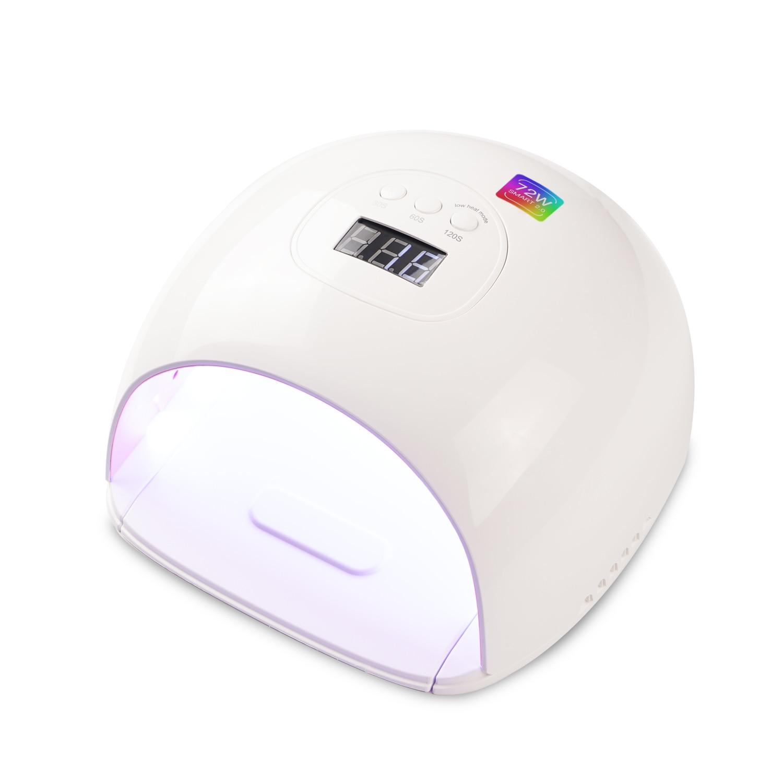 Lámpara de uñas UV LED, 72 vatios, secador de uñas más rápido para salón de esmalte de Gel, lámpara de Gel profesional de calidad, herramientas de Arte de uñas con Sensor automático