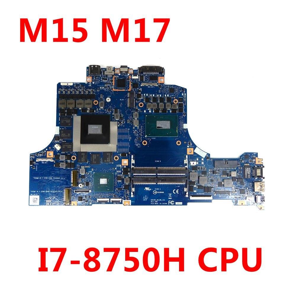CN-0WCNK6 0WCNK6 WCNK6 لديل Alienware M15 اللوحة الأم للكمبيوتر المحمول 0 رين AW MB اللوحة الرئيسية I7-8750H GTX1060-6GB 100% اختبارها