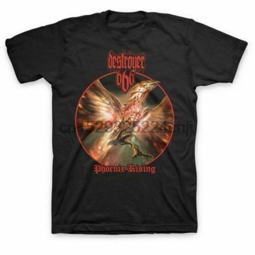 Novo destroyer 666 phoenix subindo álbum heavy metal camisa (MED-2XL) badhabitmerch