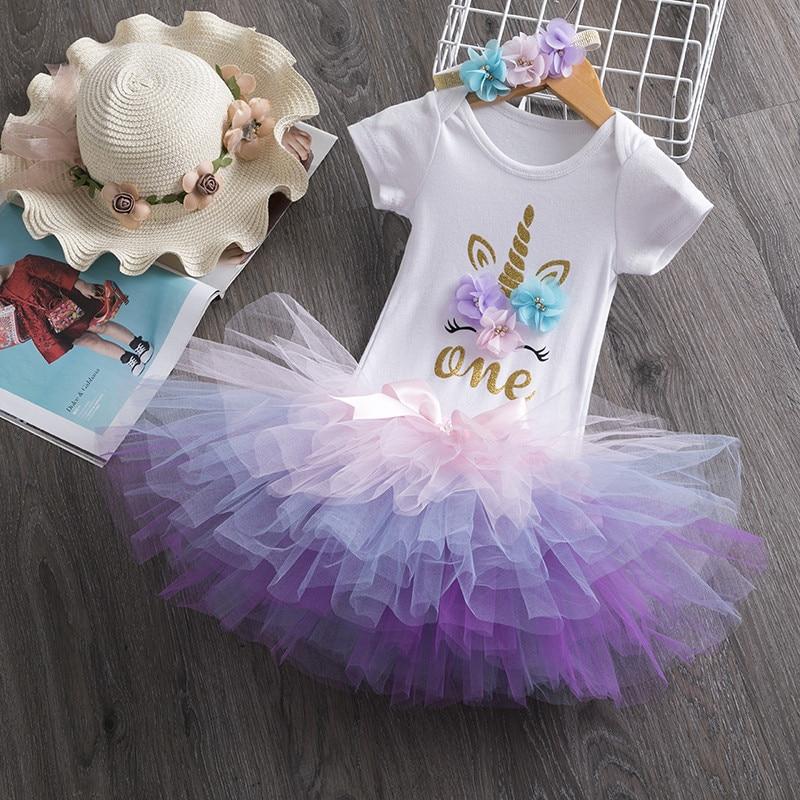 1 שנה תינוקת שמלת נסיכת בנות הטבלה שמלת ילדים בגדי תינוק טבילת 1st הראשון יום הולדת תלבושות Vestido קיץ שמלות Aliexpress