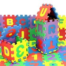 36 PCS  Digital Alphabet Childrens Puzzle Foam EVA Puzzle Mat Baby Anti-fall Anti-cold Environmental Protection Crawling Mat