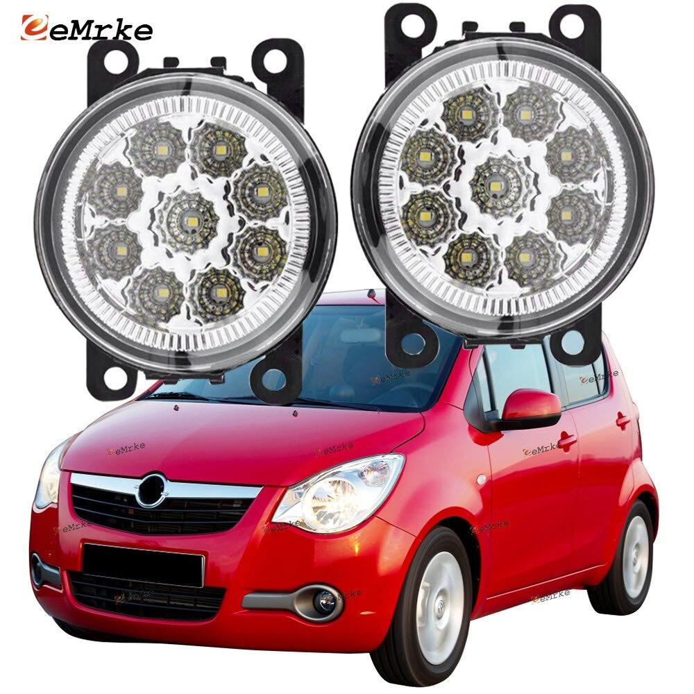 EEMRKE 2x لأوبل فوكسهول أجيلا B H08 F68 2008 2009 2010-2014 9-Pieces Led أضواء الضباب H11 12 فولت الجبهة الوفير أضواء السيارة التصميم