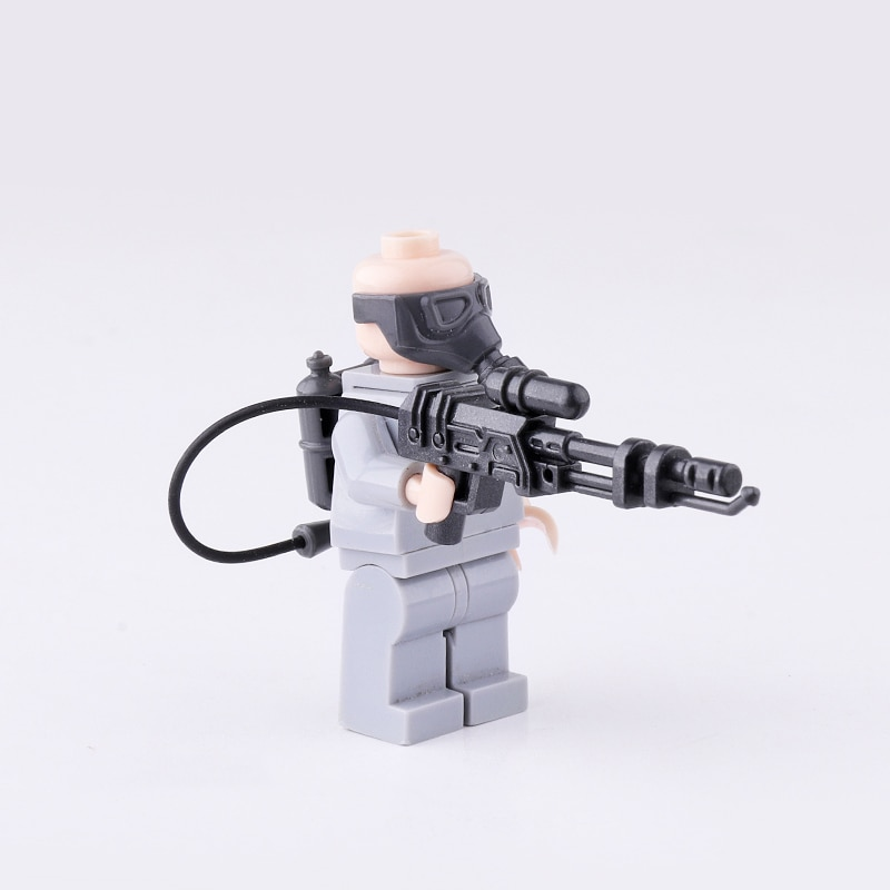 Lanzador de llama militar MOC, accesorios para arma, bloques de construcción, defensa química, Arma de soldados, accesorios para arma, juguetes de bloques de Modelismo