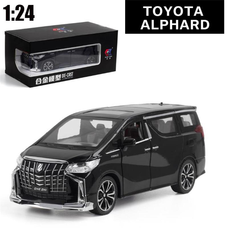 1:24 سيارات لعبة ممتازة جودة تويوتا ألفارد مع مربع سيارة لعبة سبيكة سيارة Diecasts & لعبة السيارات نموذج سيارة اللعب ل الأطفال