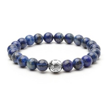 Lan Li natural 8mm lapis lazuli Bracelet mens and womens fashion energy Charm Bracelet Jewelry Gift