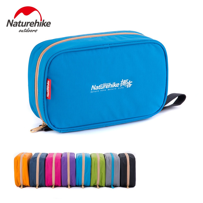 Naturehike Factory sell Men Women waterproof Cosmetic bag Case Make Up Toiletry bag kits Storage multifuction Travel Wash bag