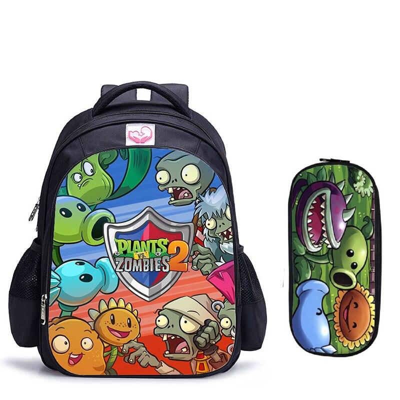 16 Inch Pflanzen VS Zombie Schule Rucksack Hot Spiel Schule Rucksack für Mädchen Jungen Buch Tasche Schulter Rucksäcke Mochila Infantil