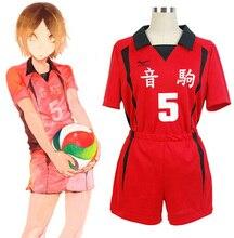 Haikyuu!! زي تأثيري المدرسة الثانوية Nekoma #5 #1 كينما كوزومي كوروو تيتسورو Haikiyu ملابس رياضية موحدة فريق كرة الطائرة جيرسي