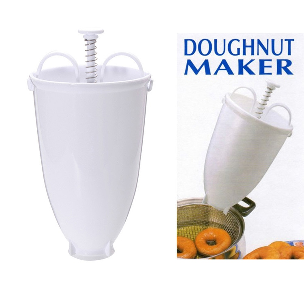 Plastic Doughnut Maker Machine Mold DIY Tool Kitchen Pastry Making Bake Ware Waffle Doughnut Cake Mould Kitchen Pastry Tool