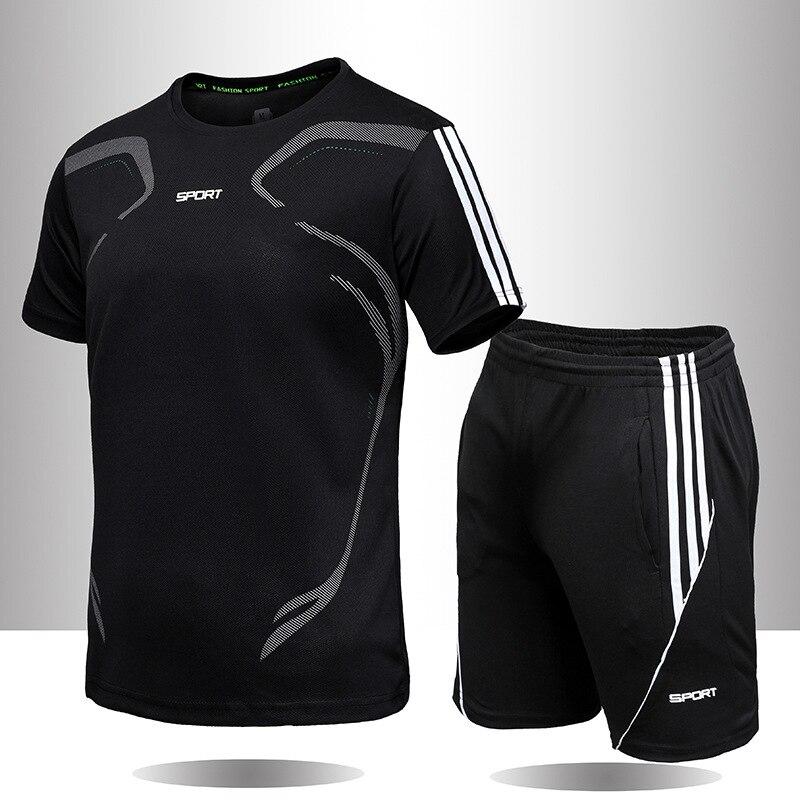 Мужская Оригинальная одежда, спортивная одежда, мужской костюм, комплект модной одежды для бега, летняя одежда для бега и фитнеса, дышащая