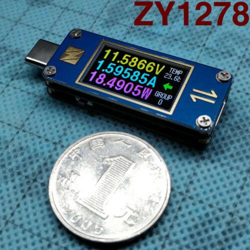 اتجاهين YZXSTUDIO ZY1278 USB-C 3.1 Gen2 نوع-C الجهد مقياس التيار الكهربائي فاحص متر