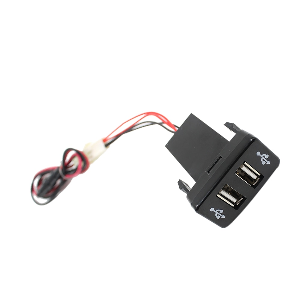 Cargador de coche USB Dual con salida GPS para teléfono móvil 2.1A puerto de enchufe para Toyota Vigo