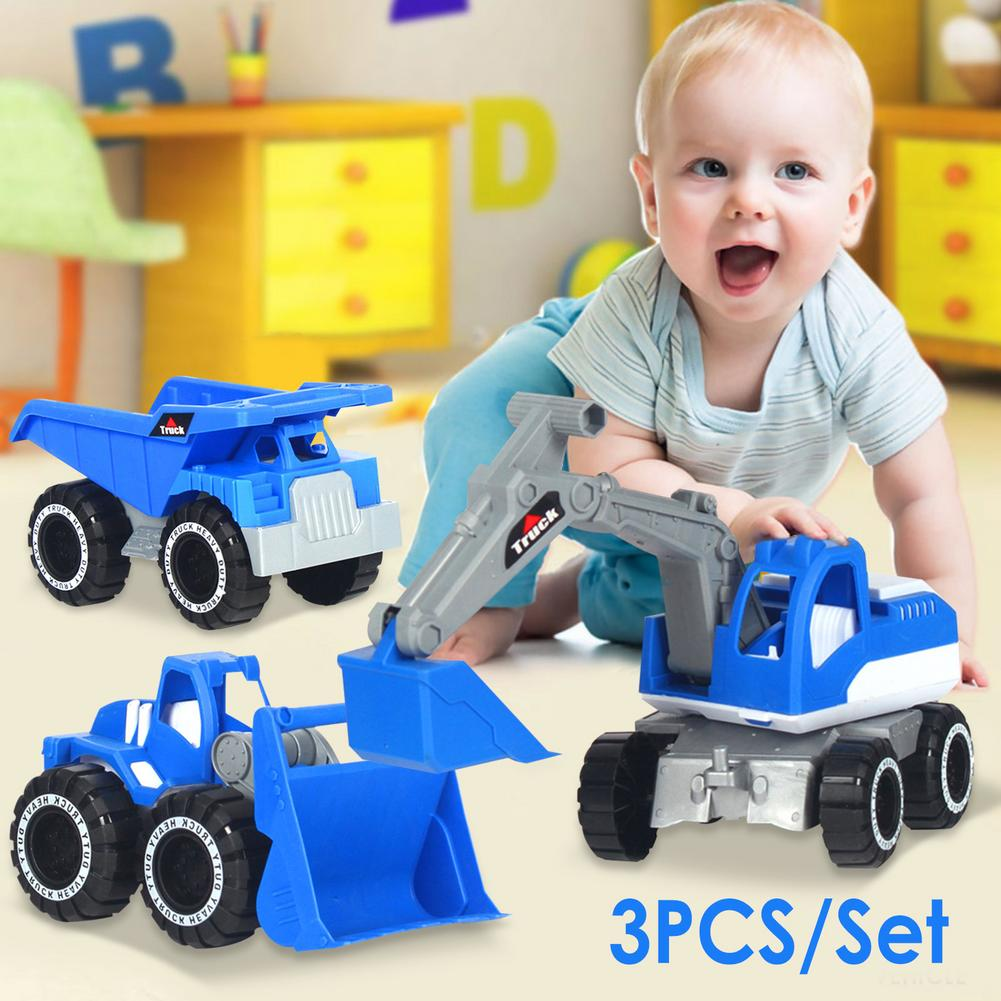 3PCS/Set Baby Classic Simulation Engineering Car Toy Excavator Model Tractor Toy Dump Truck Model Car Toy Mini Gift for Kids new baby classic simulation engineering car toy excavator model tractor toy dump truck model car toy mini gift for kids boy