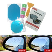 1 Pair Anti Fog Car Mirror Window Clear Film Anti Car Rearview Mirror Protective Film Waterproof Rainproof Car Sticker Accessory