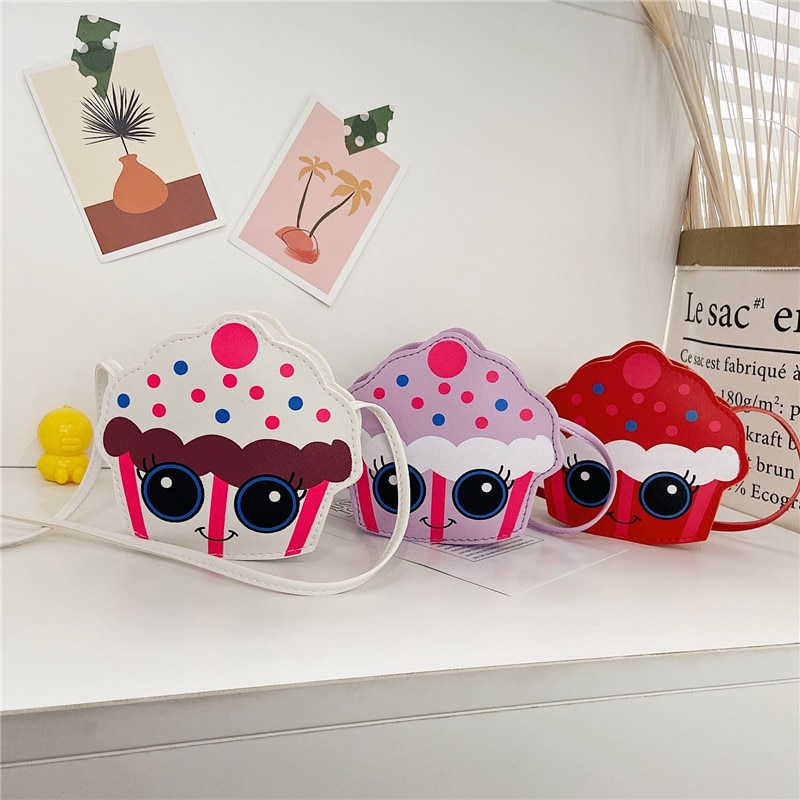 Lovely Baby Children's Crossbody Bag Cute Ice Cream Kids Mini Coin Purse Shoulder Bags Accessories H