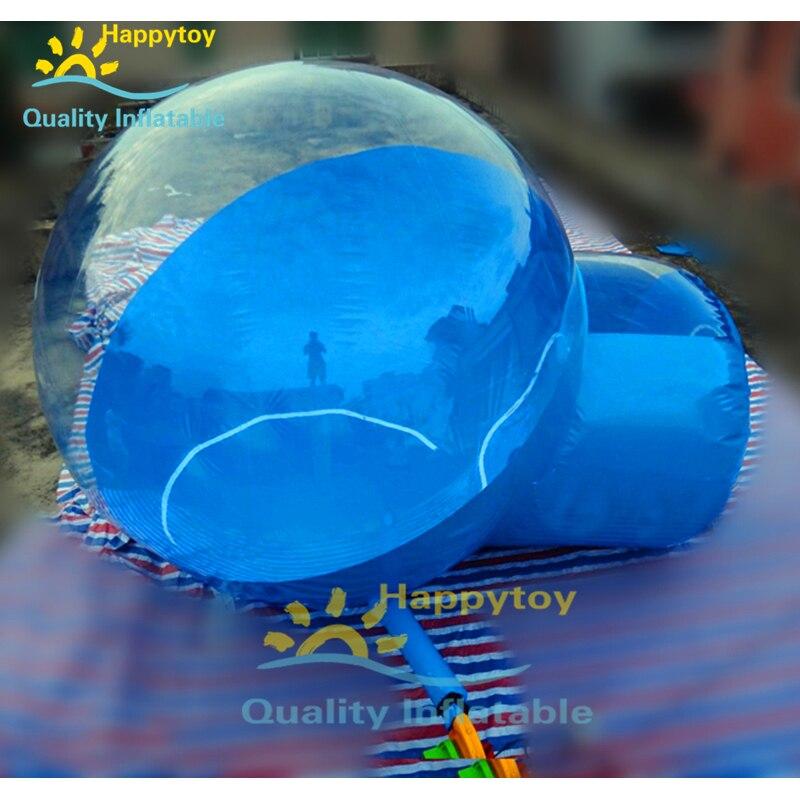 Outdoor Kabine Haus Camping Transparent Iglu Kuppel Klar Aufblasbare Blase Zelt Lodge Ballon