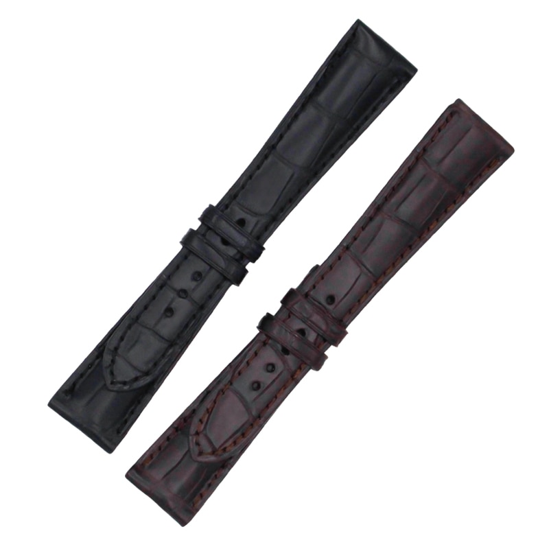 Crocodile Skin Watch Band Leather Strap Super Complicated Function Timing Series Alligator Skin